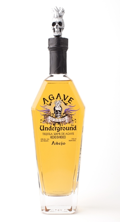 Bottle of Agave Underground Añejo