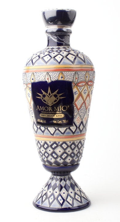 Bottle of Amor Mío Extra Añejo Ceramic Bottle