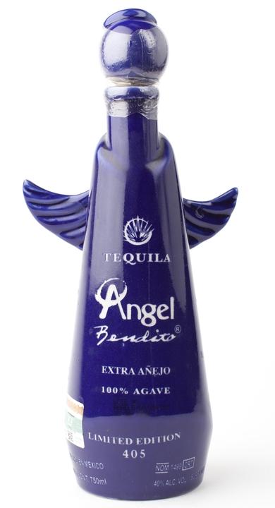 Bottle of Angel Bendito Extra Añejo Ceramic