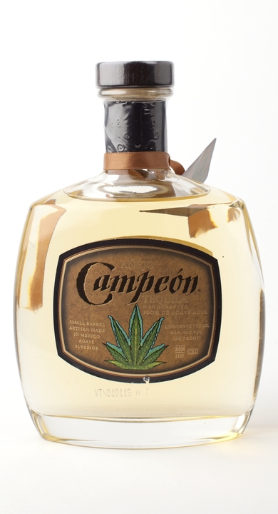 Bottle of Campeon Añejo Tequila