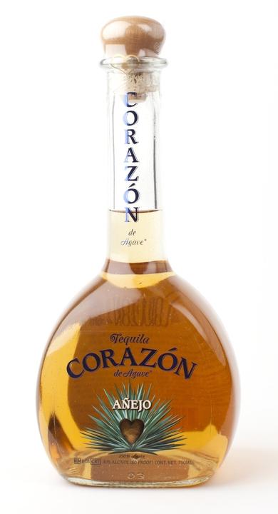 Bottle of Corazon Añejo Tequila