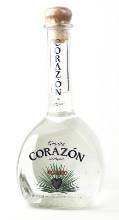 Bottle of Corazon Blanco Tequila
