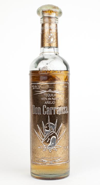 Bottle of Don Carranza Tequila Añejo