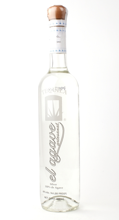 Bottle of El Agave Silver Tequila