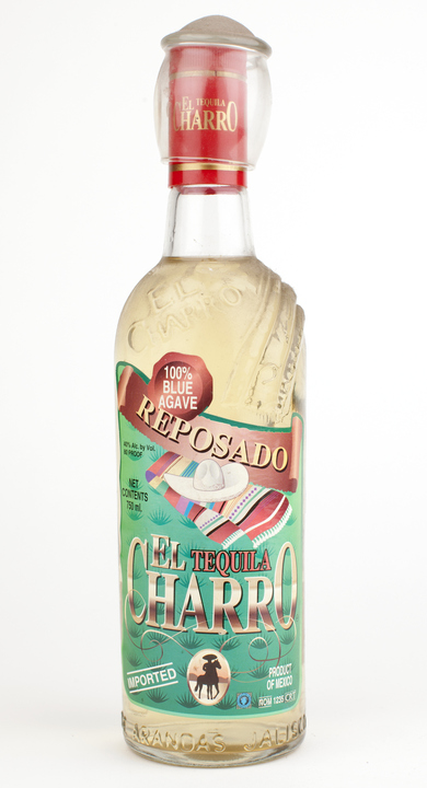 Bottle of El Charro Reposado 100% Agave