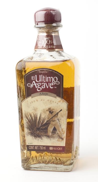 Bottle of El Ultimo Agave Añejo