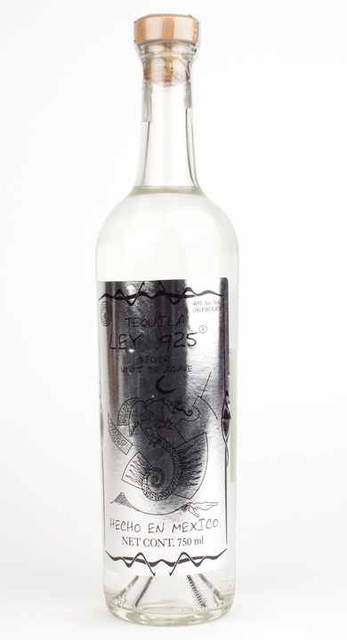Bottle of Ley .925 Tequila Silver Dragon Bottle