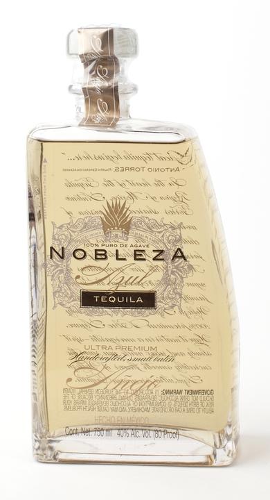 Bottle of Nobleza Azul Tequila Añejo