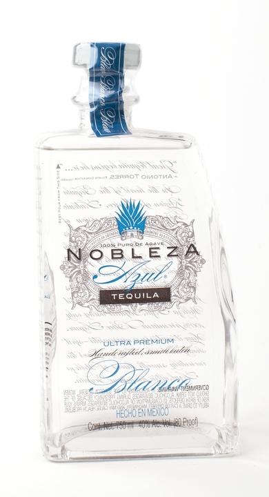 Bottle of Nobleza Azul Tequila Blanco