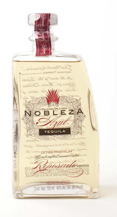 Bottle of Nobleza Azul Tequila Reposado