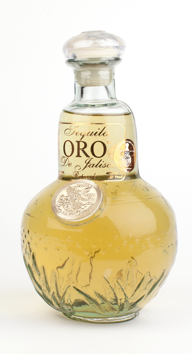 Bottle of Oro de Jalisco Tequila Reposado