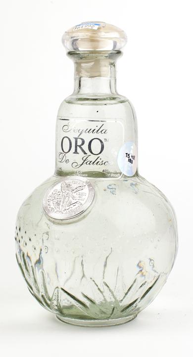 Bottle of Oro de Jalisco Tequila Silver