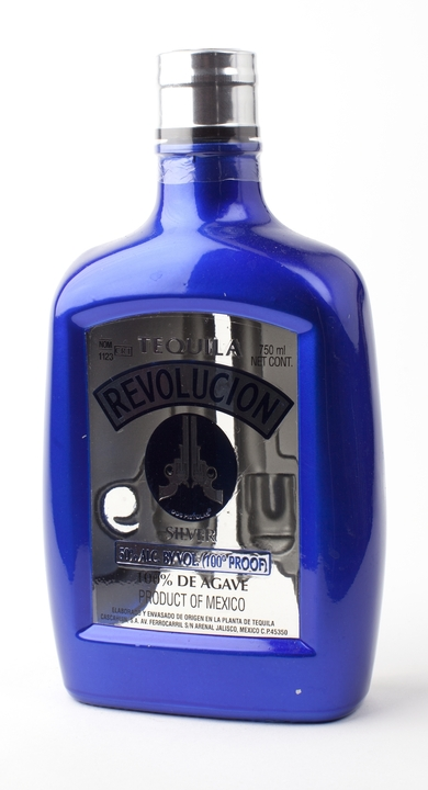 Bottle of Revolucion Silver 100 Proof
