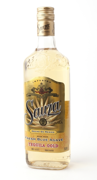 Bottle of Sauza Gold
