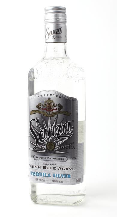 Bottle of Sauza Silver
