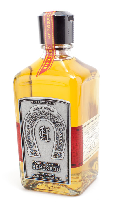 Bottle of Herradura Double Barrel Reposado