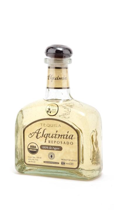 Bottle of Tequila Alquimia Reposado