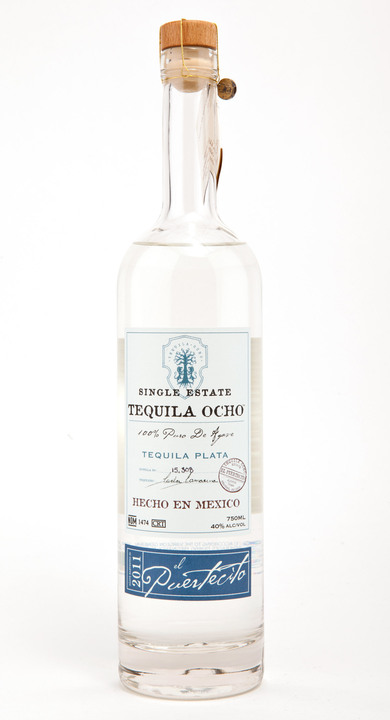 Bottle of Ocho Tequila Plata - El Puertecito 2011
