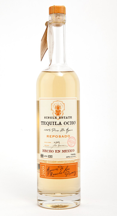 Bottle of Ocho Tequila Reposado - Las Pomez 2009