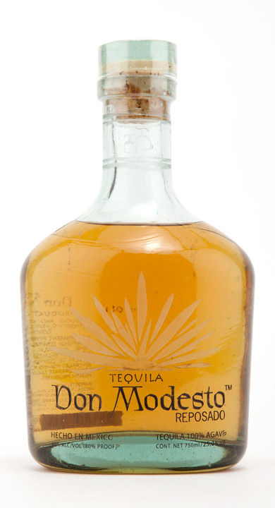 Bottle of Don Modesto Tequila Reposado