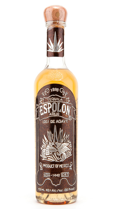 Bottle of Espolon Añejo (Foil Label)