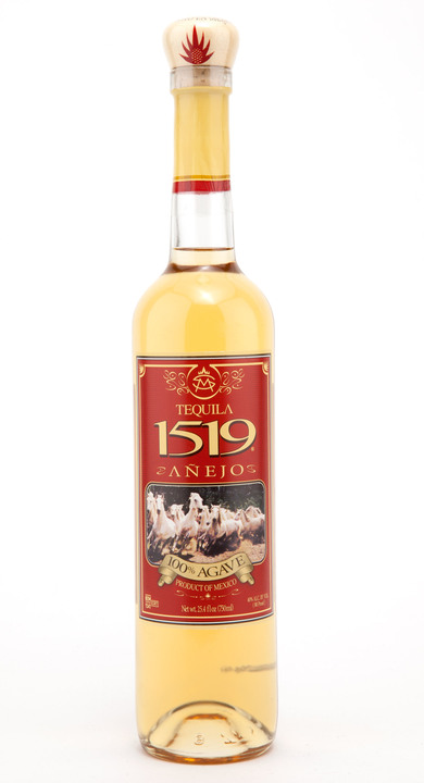 Bottle of 1519 Tequila Añejo
