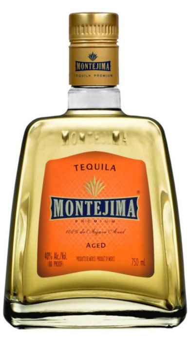 Bottle of Montejima Tequila Aged