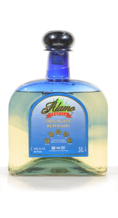 Bottle of Alamo Tequila Reposado