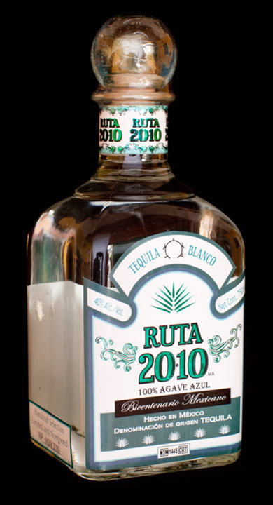 Bottle of Ruta 2010 Tequila Blanco
