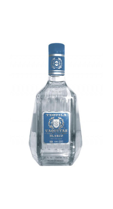 Bottle of 3 Vaquitas Tequila Blanco