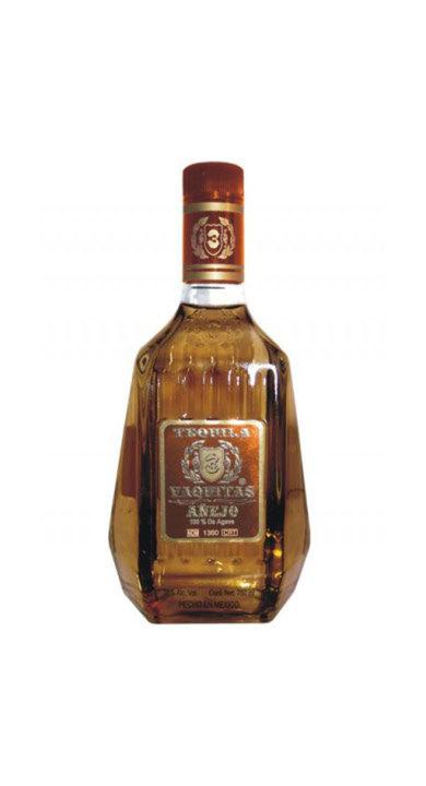 Bottle of 3 Vaquitas Tequila Añejo