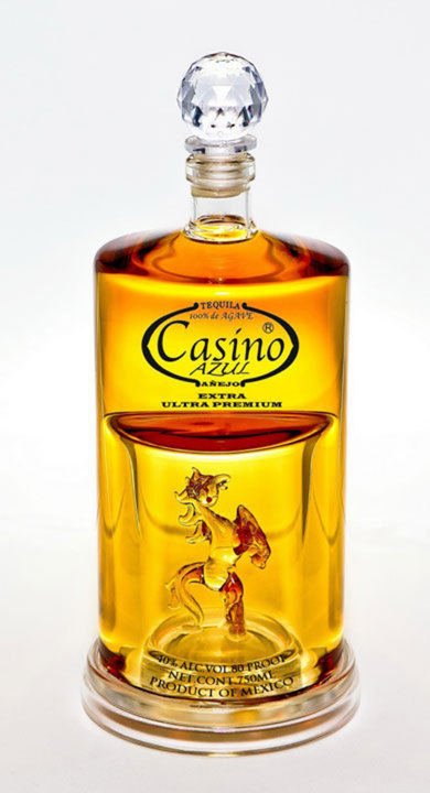 Bottle of Casino Azul Tequila Extra Anejo