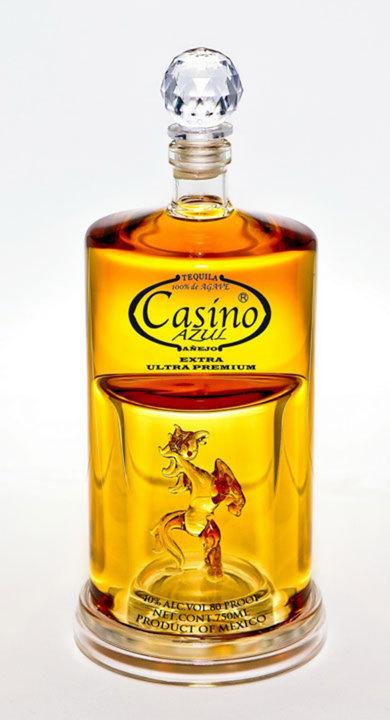 Bottle of Casino Azul Tequila Extra Anejo