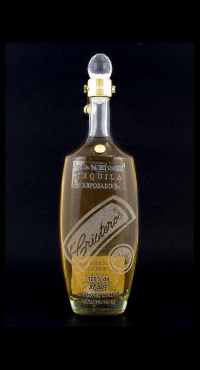 Bottle of Cristeros Tequila Reposado