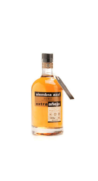 Bottle of Siembra Azul Suro Extra Añejo