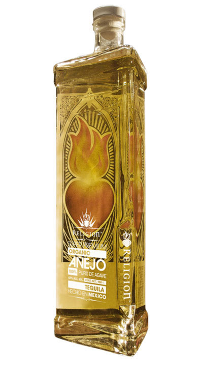 Bottle of Religion Tequila Añejo