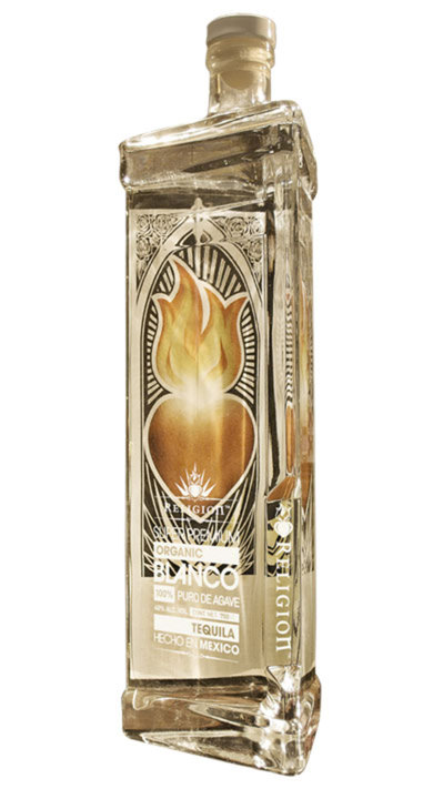 Bottle of Religion Tequila Blanco