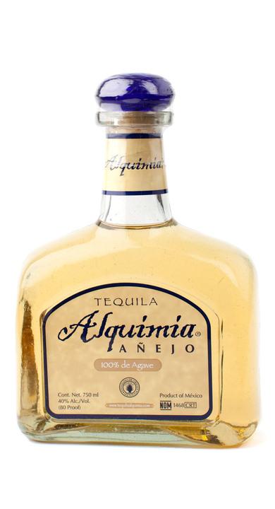 Bottle of Tequila Alquimia Añejo