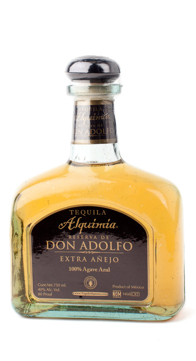 Bottle of Tequila Alquimia Reserva de Don Adolfo Extra Añejo