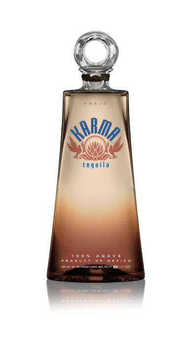 Bottle of Karma Tequila Añejo