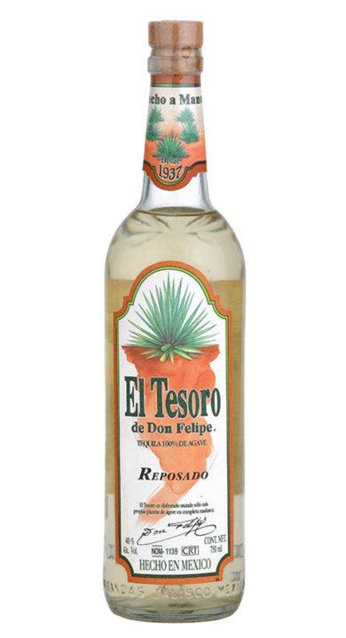 Bottle of El Tesoro Reposado (White Label)