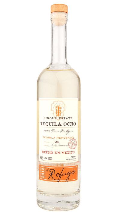 Bottle of Ocho Tequila Reposado - El Refugio 2012