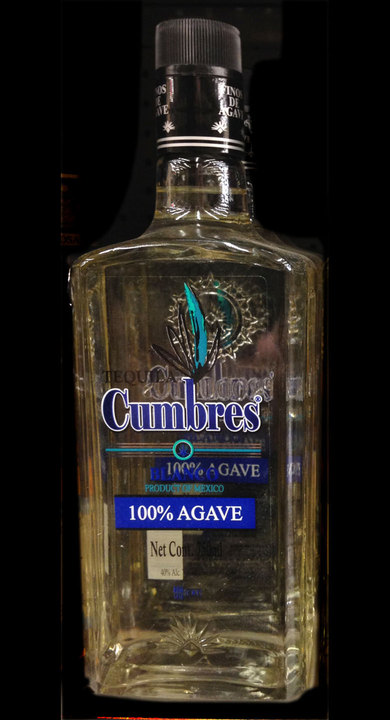 Bottle of Tequila Cumbres Blanco