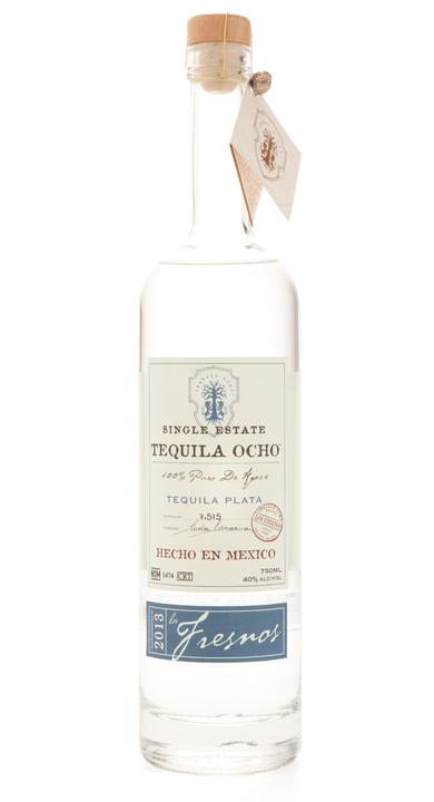 Bottle of Ocho Tequila Plata - Los Fresnos 2013