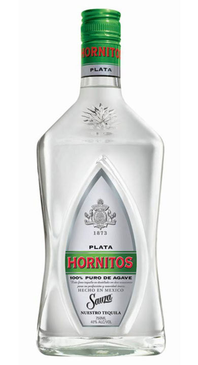 Bottle of Sauza Hornitos Plata