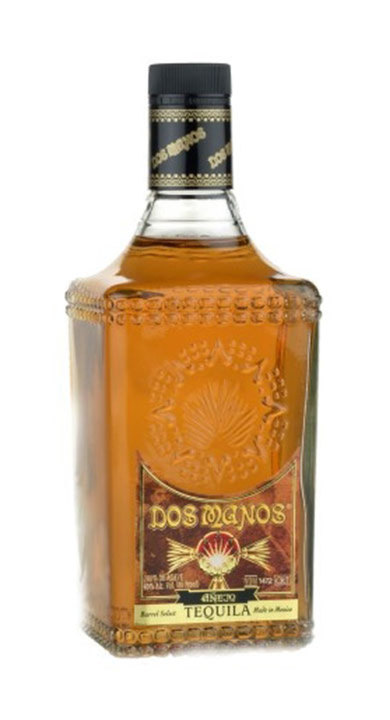 Bottle of Dos Manos Añejo Tequila