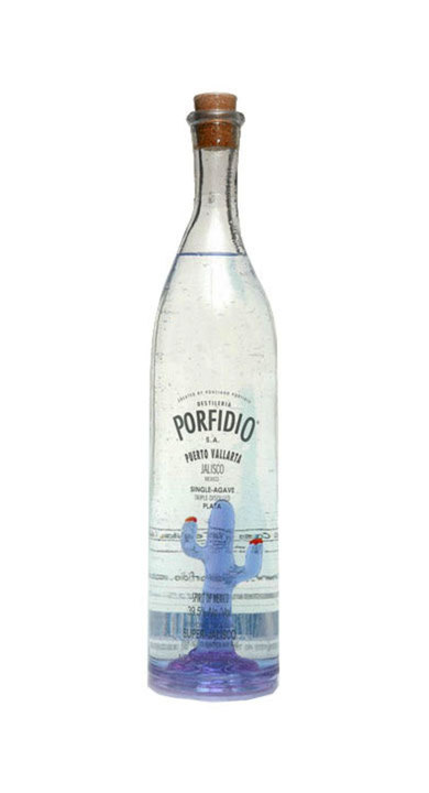 Bottle of Porfidio Tequila Plata