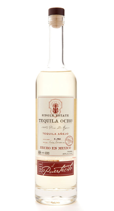 Bottle of Ocho Tequila Añejo - El Puertecito 2011