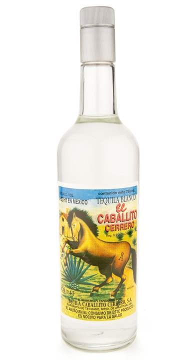 Bottle of El Caballito Cerrero Blanco