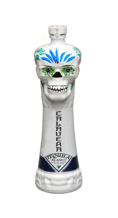 Bottle of Calavera Blanco Tequila